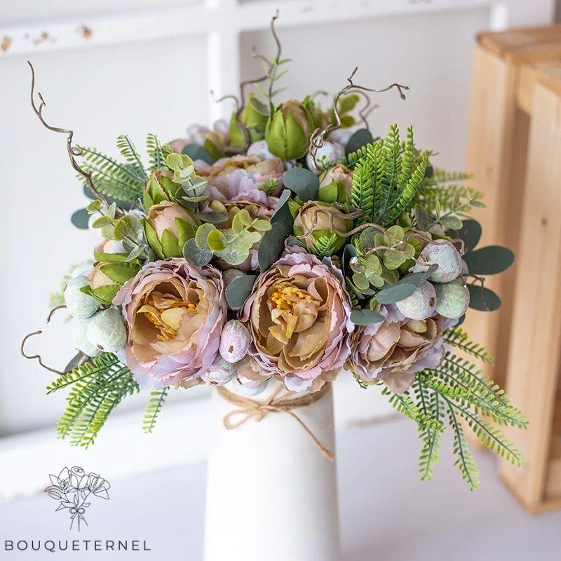 Bouquet Artificiel Composition Fleurs Artificielles pour Deuil