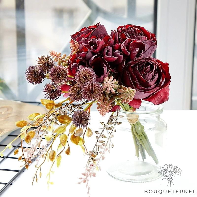 Bouquet Artificiel Composition Florale pour Deuil
