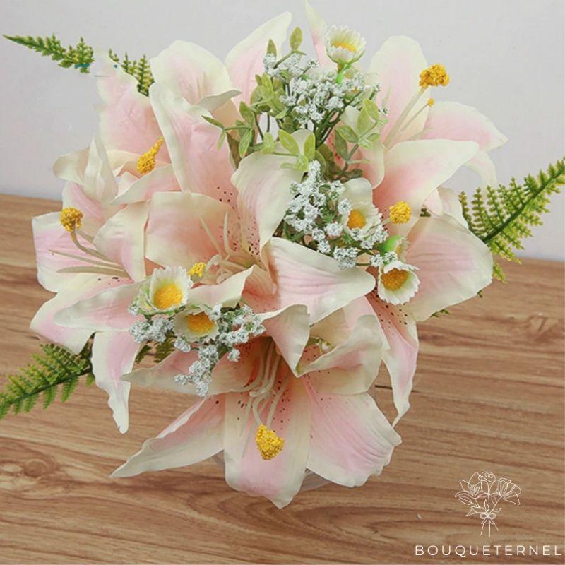 Bouquet Artificiel Fleurs Artificielles au Toucher Naturel