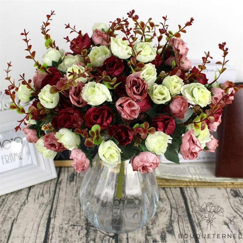 Bouquet Artificiel Belles Fleurs Artificielles pour Cimetière