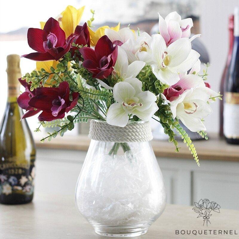 Bouquet Artificiel de Fleurs d\'Orchidées pour Mariage