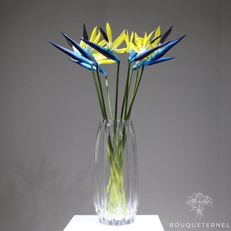 Fleurs Oiseau de Paradis Strelitzia Nicolai Artificielles