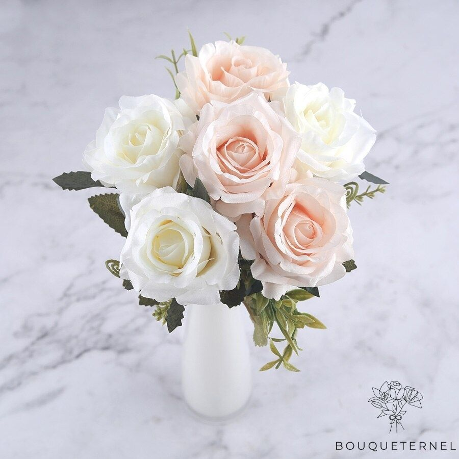 Roses Artificielles Rosa Indica | Bouquet Artificiel | Bouqueternel