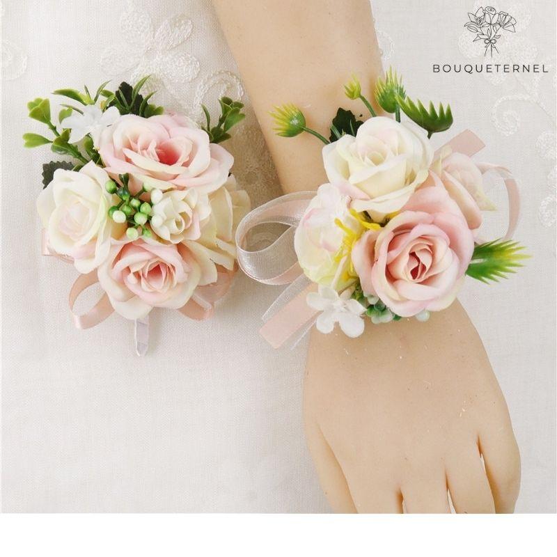 Bracelet de Fleurs Artificielles pour Mariage