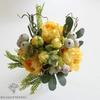 Bouquet Artificiel Composition Fleurs Artificielles pour Deuil Jaune | Bouquet Artificiel | Bouqueternel