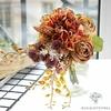Bouquet Artificiel Composition Florale pour Deuil Jaune Orangé | Bouquet Artificiel | Bouqueternel