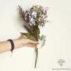 Composition Fleurs Artificielles pour Cimetière Violet | Bouquet Artificiel | Bouqueternel