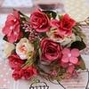 Bouquet Artificiel Déco Fleurs pour Mariage Rouge | Bouquet Artificiel | Fleur Artificielle Mariage | Bouqueternel