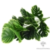 18 Feuilles Monstera Artificielles Vertes et Jaune | Branche Artificielle | Plante Artificielle | Bouqueternel