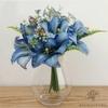 Fleurs Artificielles au Toucher Naturel Bleu   Bouquet Artificiel   Bouqueternel