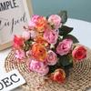 Belles Fleurs Artificielles pour Cimetière Rose | Bouquet Artificiel | Bouqueternel