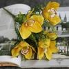Fleurs d'Orchidées Artificielles pour Mariage Jaune | Bouquet Artificiel | Fleur Artificielle Mariage | Bouqueternel