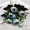 Bouquet de Fleurs Artificielles pour Tombe Bleu | Bouquet Artificiel | Bouqueternel