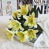 Fleur de Lys Mariage Jaune | Fleurs Artificielles | Fleurs de Lys Artificielles | Bouqueternel