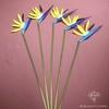 Strelitzia Nicolai Artificiel Bleu 5 Branches | Fleurs Artificielles | Fleurs Artificielles Oiseau de Paradis | Bouqueternel