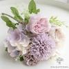 Petite Composition Florale pour Table Mariage Violette | Fleurs Artificielles | Hortensias Artificiels |  Bouqueternel