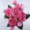 Bouquets de Fleurs Artificielles Haut de Gamme Pivoine Artificielle Rose Bouqueternel