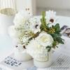 Centre de Table Mariage Bohème Chic Blanche | Fleurs Artificielles | Hortensias Artificielles | Bouqueternel