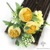 Centre de Table Fleur Artificielle Mariage Jaune | Fleurs Artificielles | Œillets Artificiels | Bouqueternel