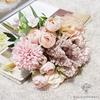 Centre de Table Mariage Bohème Rose | Fleurs Artificielles | Hortensias Artificiels | Bouqueternel