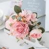 Centre de Table Fleur Champêtre Rose Pâle   Fleurs Artificielles   Roses Artificielles   Bouqueternel