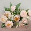 Centre de Table Mariage Pas Cher Roses Pâles | Fleurs Artificielles | Renoncules Artificielles | Bouqueternel