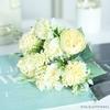 Déco Centre de Table Mariage Pas Cher Jaune | Fleurs Artificielles | Hortensias Artificiels | Bouqueternel