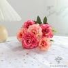 Centre de Table Ronde Mariage Roses | Fleurs Artificielles | Renoncules Artificielles | Bouqueternel