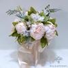 Bouquet Mariée Pivoine Champêtre Blanc Cassé | Fleurs Artificielles | Pivoines Artificielles | Bouqueternel