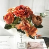 Décoration Table Ronde Mariage Oranges | Bouquet Artificiel | Roses Artificielles | Bouqueternel