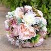 Bouquet de Mariée de Pivoine Rose et Blanc   Bouquet Artificiel   Pivoines Artificielles   Bouqueternel