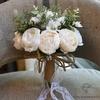 Bouquet de Mariée Pivoine Vintage Blanches | Bouquet Artificiel | Pivoines Artificielles | Bouqueternel