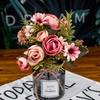 Bouquet Artificiel Décoration de Table Mariage Chic Rose Pale Bouqueternel