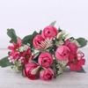 Bouquet de Pivoine Artificielle Fleur Artificielle pour Voiture Mariage Rouge Bouqueternel