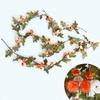 Plantes Artificielles Haut de Gamme Orange et Blanche Bouqueternel