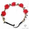 Couronne de Fleurs pour Mariage Rouge Pâle Bouqueternel