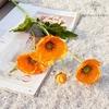 Coquelicots Artificiels Orange Pâle | Branche Artificielle | Bouqueternel
