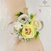Bracelet de Fleurs Artificielles pour Mariage Jaune | Fleurs Artificielle Mariage | Bouqueternel