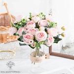 Bouquet de Fleurs Artificielles Décoration de Table pour Mariage | Bouquet Artificiel | Fleur Mariage Artificielle | Bouqueternel