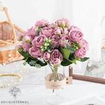 Bouquet de Fleurs Artificielles Décoration de Table pour cérémonie Mariage | Bouquet Artificiel | Fleur Mariage Artificielle | Bouqueternel