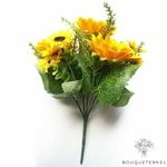 Bouquet de Tournesols Artificiels Jaune | Bouquet Artificiel | Bouqueternel