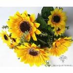 Tournesols Artificiels en Bouquet | Bouquet Artificiel | Bouqueternel