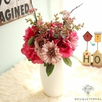 Composition Florale de Noël Bouquet de Fleurs Artificielles | Bouquet Artificiel l Bouqueternel