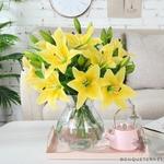 Fleurs Artificielles de Lys | Branche Artificielle | Plante Artificielle | Bouqueternel