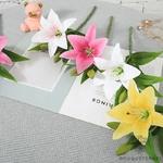 Fleurs de Lys Artificielles en Branche | Branche Artificielle | Plante Artificielle | Bouqueternel