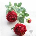 Très Grandes Fleurs Artificielles Pivoines Itoh Bartzella Rouge | Pivoines Artificielles | Bouqueternel