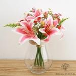 Fleurs Artificielles au Toucher Naturel Rose   Bouquet Artificiel   Bouqueternel