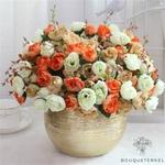 Belles Fleurs Artificielles pour Cimetière en Bouquet | Bouquet Artificiel | Bouqueternel