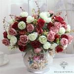 Belles Fleurs Artificielles pour Cimetière en Bouquets | Bouquet Artificiel | Bouqueternel