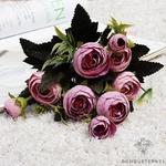 Bouquet de Fleurs Artificielles pour Tombe Violet Pâle | Bouquet Artificiel | Bouqueternel